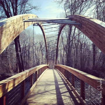 Bridge over the Big Wood River in Hailey.