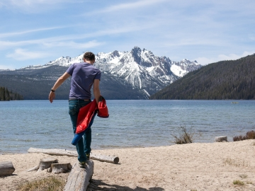 Mike at Redfish Lake.