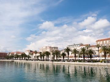 Split's oceanfront promenade, the Riva.