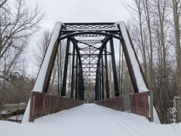 One of the only surviving railroad bridges designed by George Pegram.